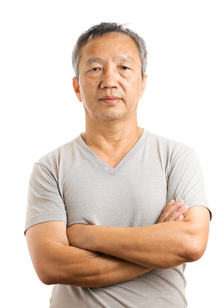 mature old generation: Asian mature man