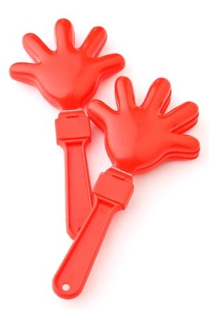 manos aplaudiendo: Animando herramienta de mano aplaudir aislados sobre fondo blanco