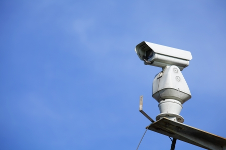 CCTV with blue sky  photo