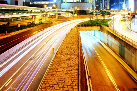 Traffic in city at night Stock Photo - 20207531