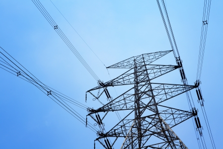 conductor electricity: Power transmission tower