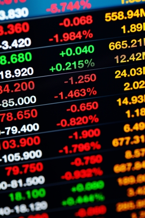 fluctuate: Stock market on display