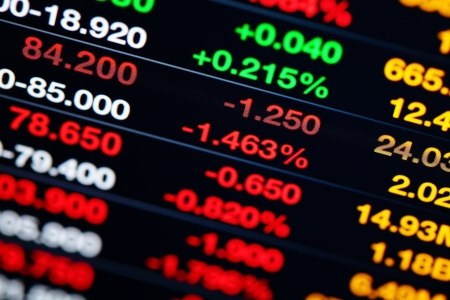 Stock market on display Stock Photo - 20278208