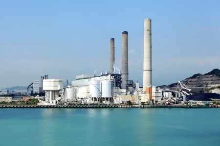 central el�ctrica: Planta de fuerza el�ctrica Foto de archivo