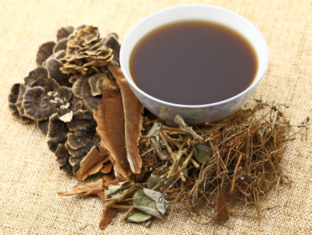 Chinese herbal medicine with ingredient photo