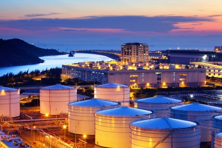 oil industry: Oil tank in cargo service terminal