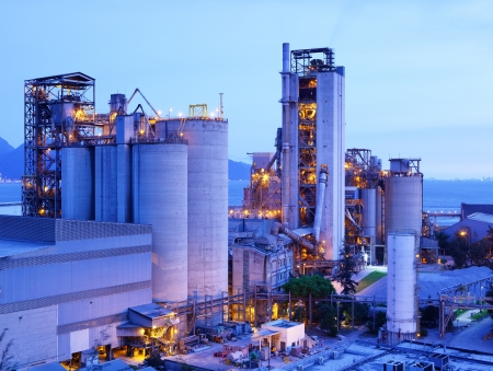 Industrial plant at dusk photo