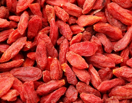 wolfberry: Dried wolfberry fruit background