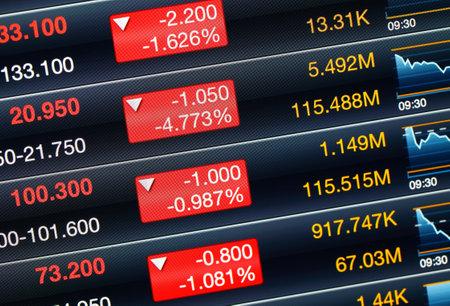 Recession of stock market Stock Photo - 20425058
