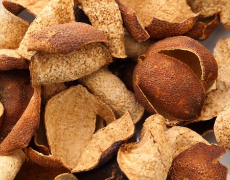 tangerine peel: Heap of dried tangerine peel
