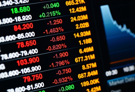 Stock market on display Stock Photo - 20425049