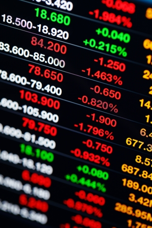 Stock market data on display Stock Photo - 20425050