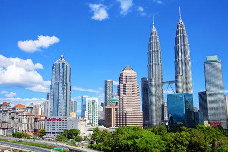 city park skyline: Kuala Lumpur skyline Editorial
