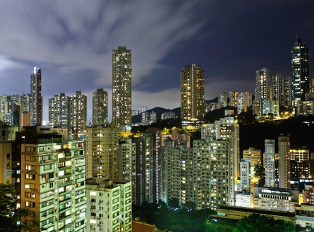 Apartment building in Hong Kong photo