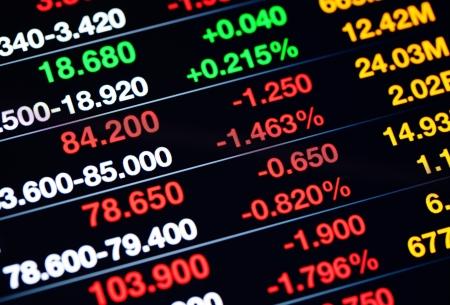Stock market data on display Stock Photo - 20428128