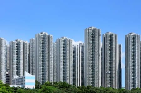 Residential building in Hong Kong photo
