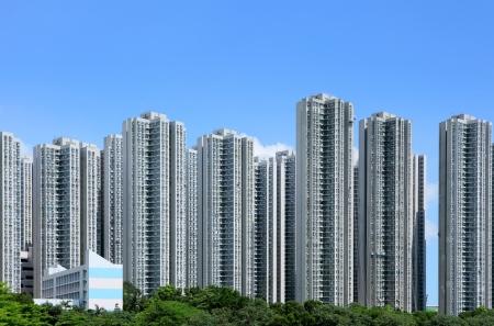 apartment block: Residential building in Hong Kong