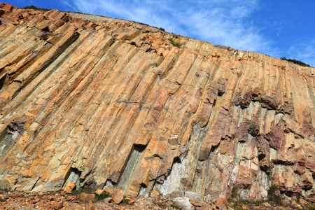 Hong Kong Geopark with blue sky photo