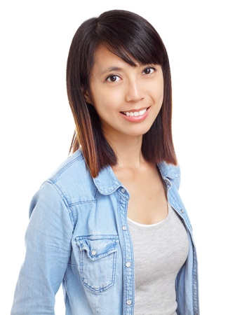 Asian woman with smile photo