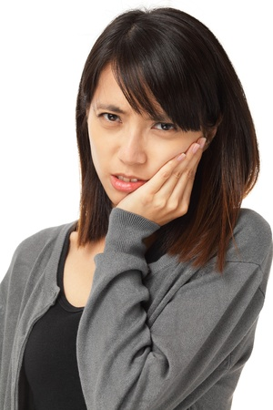 Asian woman with toothache Stock Photo - 20558456