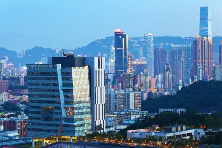 Building in Hong Kong at dusk Stock Photo - 20622713