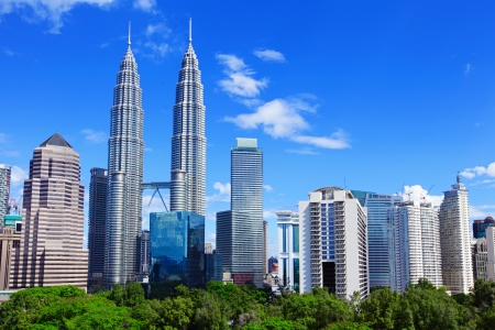malaysia culture: Kuala Lumpur skyline Editorial