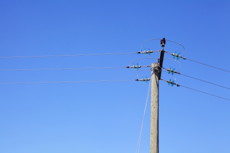powerline: Powerline under blue sky