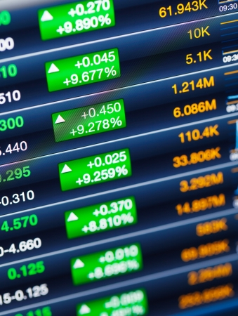 Stock market price display Stock Photo - 20850089