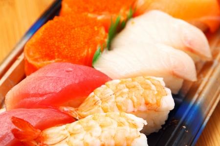 bento box: Sushi bento box close up