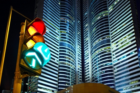 stop and go light: Traffic light in the city Editorial