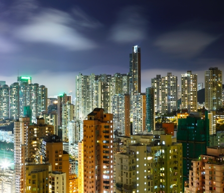 Cityscape at night Stock Photo - 20999321