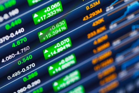 Boosting of the stock market Stock Photo - 20999282