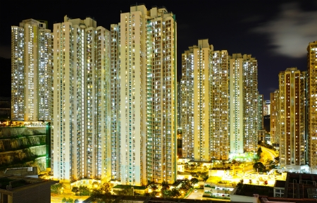 Apartment building at night Stock Photo - 20999210