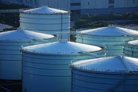 Oil tank in cargo terminal service centre Stock Photo - 20999215