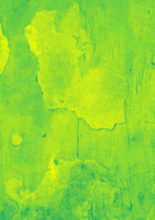 Grunge green and yellow painted wall Stock Photo - 20999216