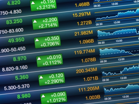 Boosting of the stock market Stock Photo - 21276203