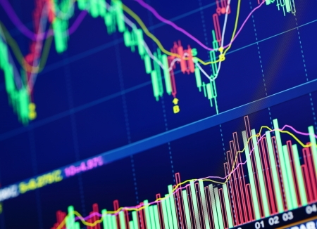 stock traders: Stock market graph Stock Photo