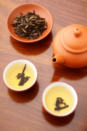 white tea: Tea ceremony Stock Photo