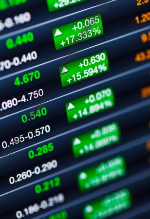 Boosting of the stock market Stock Photo - 21353008