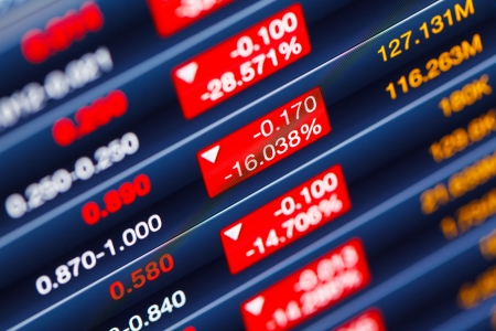 株式市場の低下