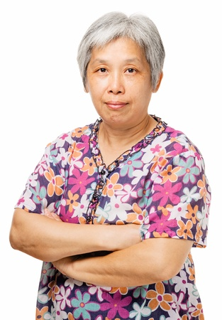 Middleage chinese woman Stock Photo - 21353033