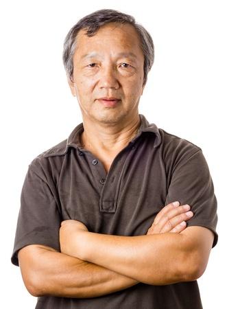 Asian mature man  photo
