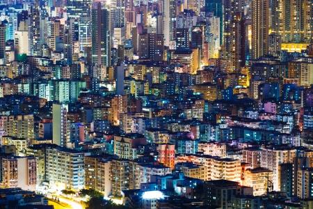 hong kong night: Hong Kong cityscape