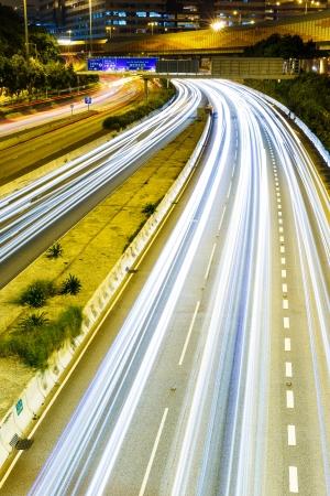 turnpike: Tr�fico intenso en la autopista Foto de archivo