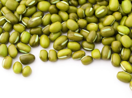 Mung bean isolated on white background photo