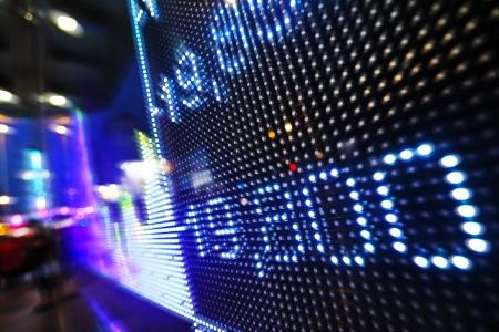 Stock market data on LED display photo