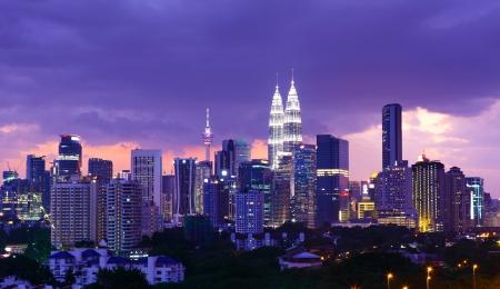 Kuala Lumpur skyline at night photo