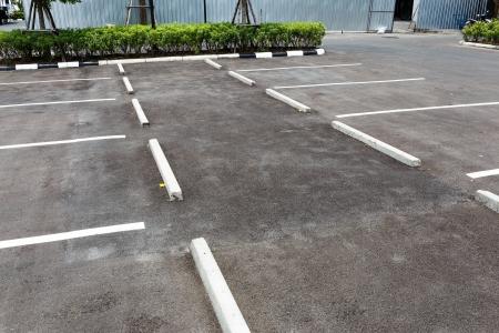 vacant lot: Empty outdoor car park Stock Photo