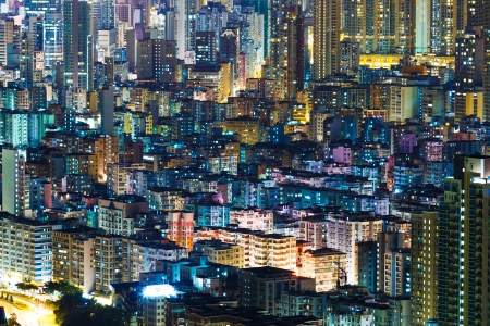 Hong Kong cityview at night Stock Photo - 21707465