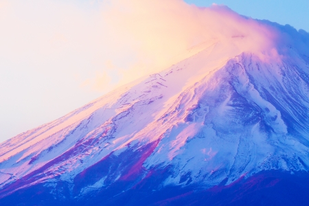 snowed: Mt. Fuji close up